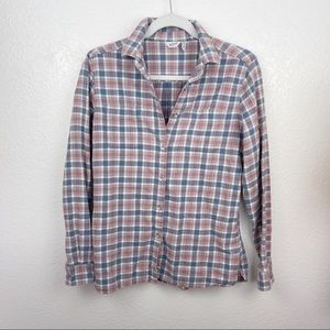 Woolrich gray button-up flannel soft